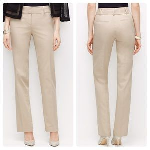Ann Taylor Straight Leg Cotton Twill